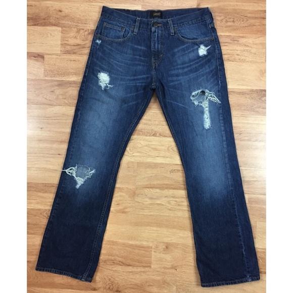 c8703774 Levi's Jeans | Mens Levis 507 Slim Boot Distressed 34wx34l | Poshmark